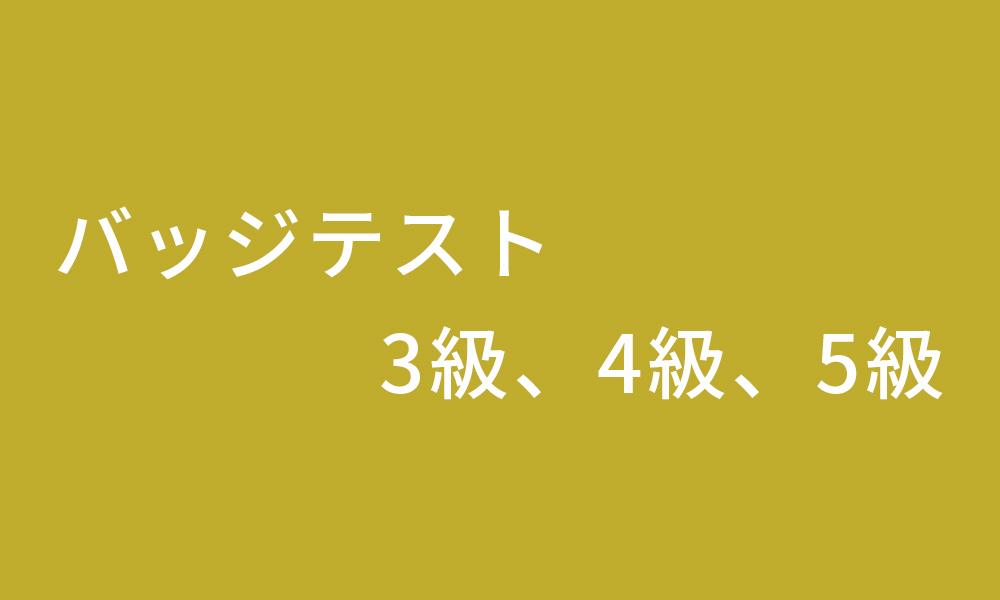 バッジテスト 3級、4級、5級